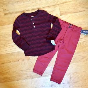 NWT Oshkosh shirt and matching Chinos